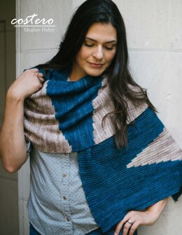Costero Wrap in Malabrigo Arroyo - Downloadable PDF