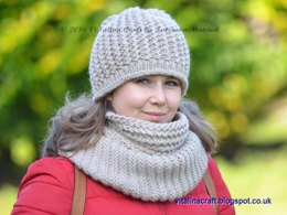 Fancy Twist Hat and Cowl Set