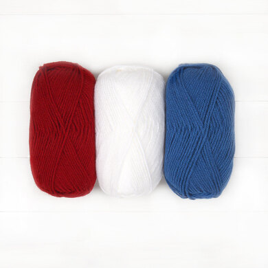 Warm Up America Hat by Bhooked - Lion Brand Vanna's Choice 3 Ball Color Pack