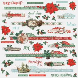 "Simple Stories Country Christmas Cardstock Stickers 12""X12"" - Border"