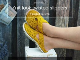 Knit look slippers