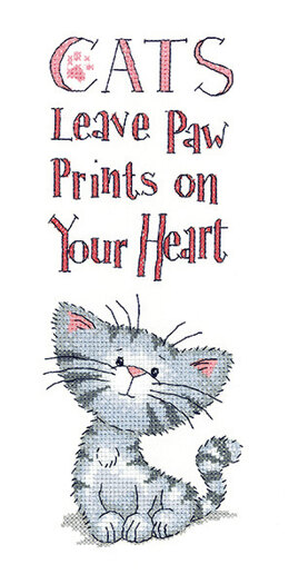Heritage Cat's Paw Prints Cross Stitch Kit