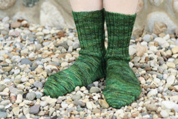 Cascading Leaves Socks in Dream in Color Everlasting Sock