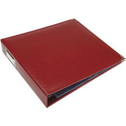 "We R Memory Keepers We R Classic Leather D-Ring Album 12""X12"" - Wine"
