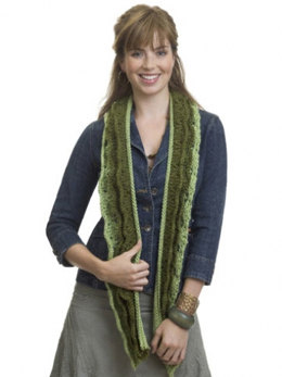 Knit Layered Scarf in Caron Simply Soft Collection and Simply Soft - Downloadable PDF