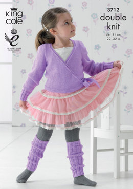 Ballet Cardigan and Leg Warmers in King Cole DK - 3712