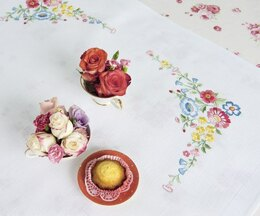 Rico Floral Profusion 90 x 90cm Embroidery Tablecloth Kit