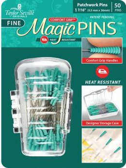 Taylor Seville Tailor Mate Magic Fine Pins Patchwork 50pc