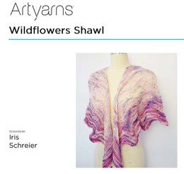 Wildflowers Shawl in Artyarns Merino Cloud - Downloadable PDF