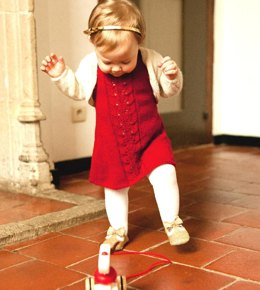 Baby Girls A-line dress with Bolero and Rompers