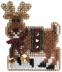 Mill Hill Jingle Rudy Beaded Cross Stitch Kit - Multi