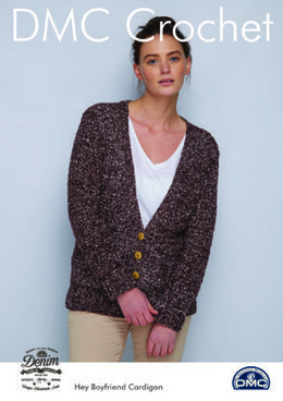 Hey Boyfriend Cardigan in Natura Denim in DMC - 15450L/2 - Leaflet