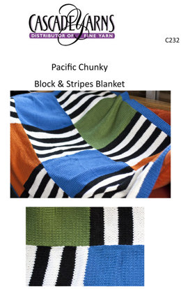 Blocks and Stripes Blanket in Cascade Pacific Chunky - C232