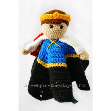 Crown Prince Blanket Buddy Crochet pattern by Spicy Tuesday