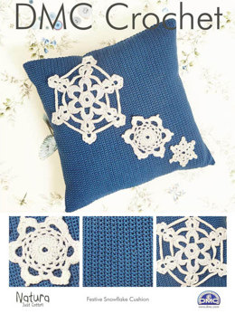 Festive Snowflake Cushion in DMC Natura Just Cotton - 15322L/2 - Leaflet