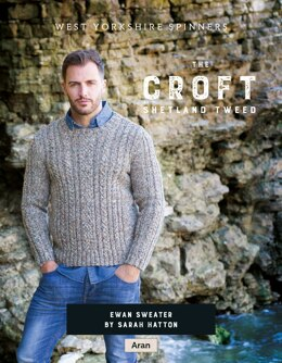 Ewan Sweater in West Yorkshire Spinners The Croft Shetland Tweed - DBP0058 - Downloadable PDF