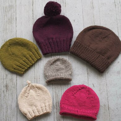 Basic Beginner Hats for the Family