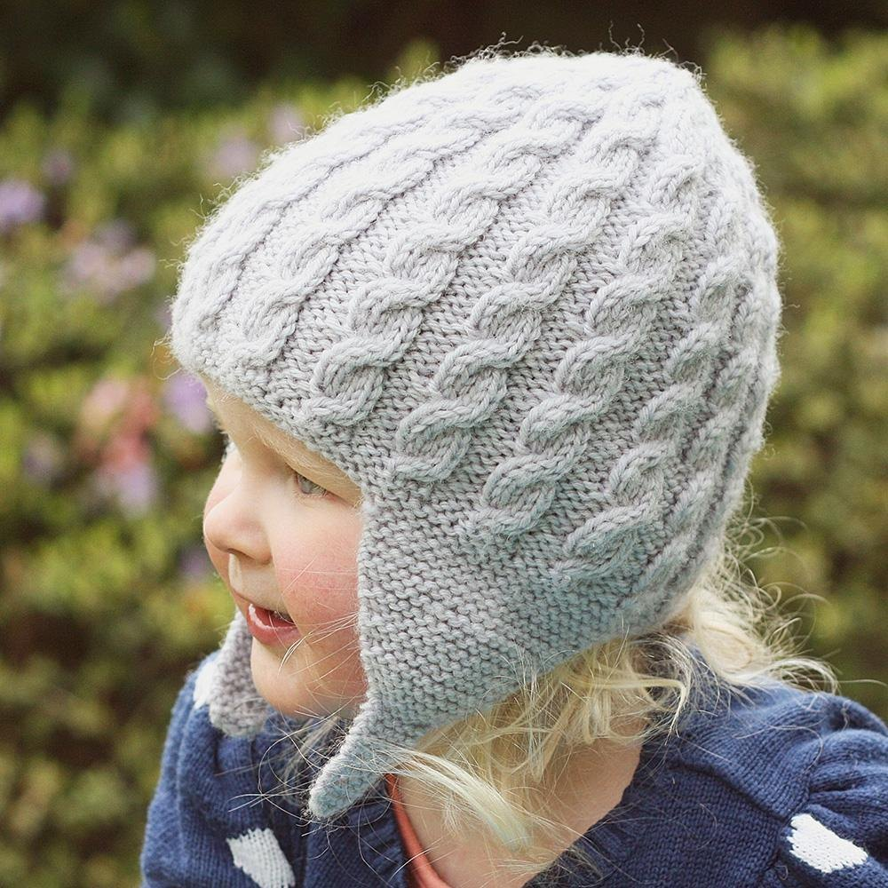Addison Cabled Earflap Hat Knitting pattern by Julie Taylor