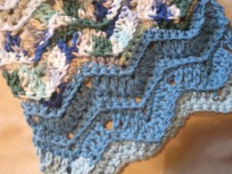 Ripple Scrap Dishcloth