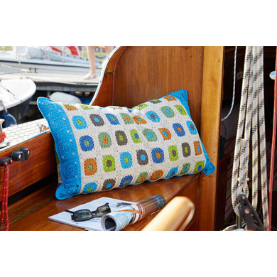 Colorful Granny Pillow in Schachenmayr Catania - S9020