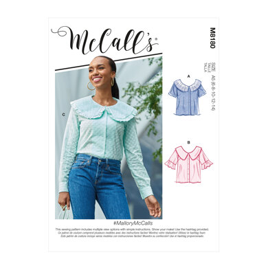 McCall's Misses' Tops M8180 - Sewing Pattern