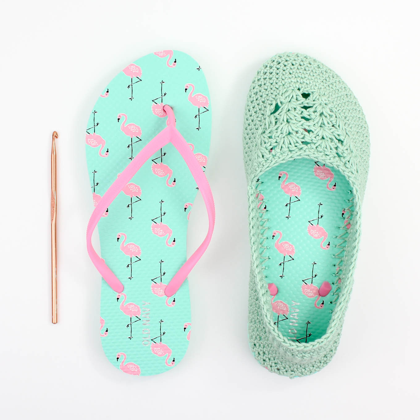 Lightweight Slippers With Flip Flop Soles Crochet Pattern By Jess