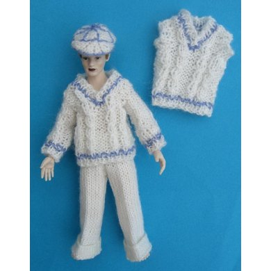 HMC50 Cricket whites outfit for the dolls house