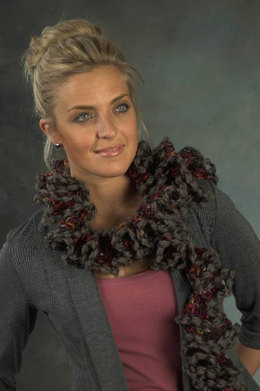 Scarf in Plymouth Yarn Joy Supreme - F444 - Downloadable PDF