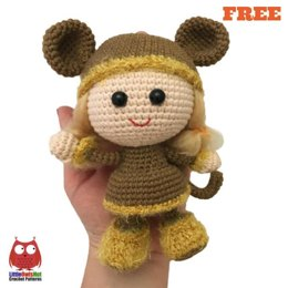 188 Doll in a Viking Monkey outfit