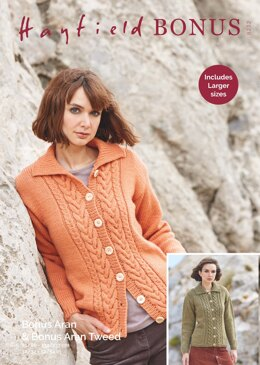 Cardigan in Hayfield Bonus Aran with Wool - 8232 - Downloadable PDF