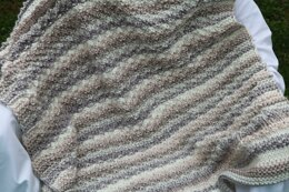 Cappuccino Bulky Baby Blanket