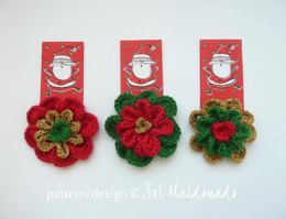 Christmas Flower Colorful ornament