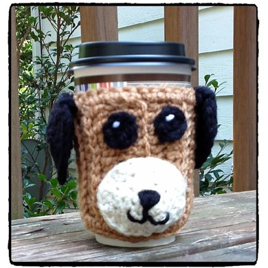 Cuddly Pup Coffee Cup Cozy