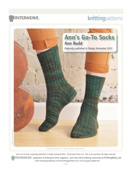 Ann's Go-To Socks in The Verdant Gryphon Bugga! - Downloadable PDF