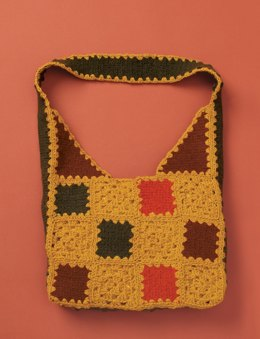 Felted And Crochet Patchwork Bag in Patons Classic Wool Worsted