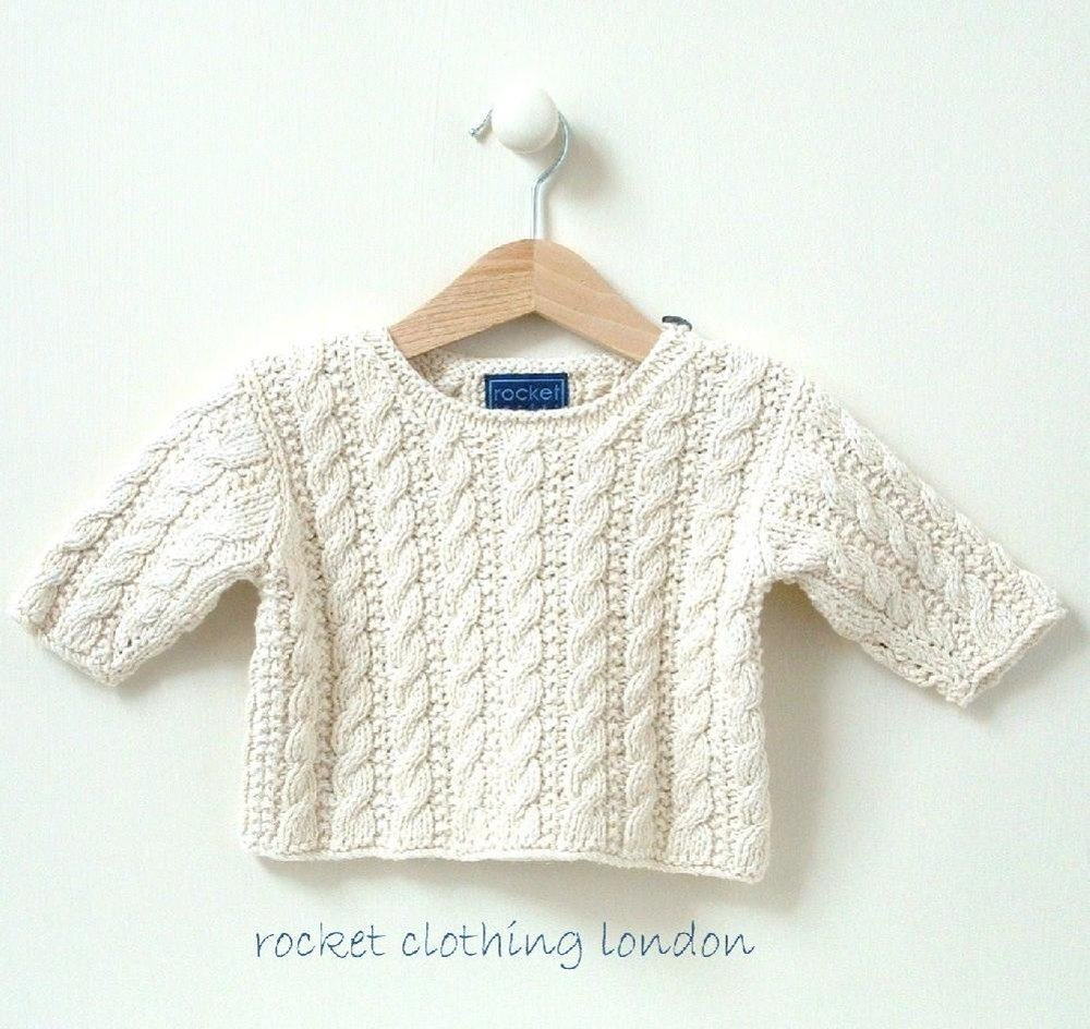 8-12m 1-2 years Mini Cable Sweater Knitting pattern by Rocket ...
