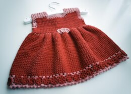 "Corchet pattern for dress:""Cute and beautiful"" size 3-6 months"