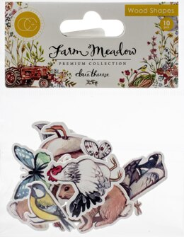 Craft Consortium Laser-Cut Wooden Shapes 10/Pkg - Animals By Clare Therese Gray