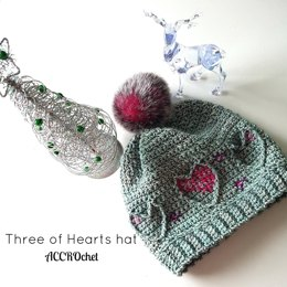 Three of Hearts hat