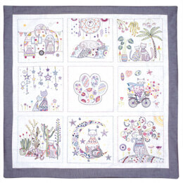 Un Chat Dans L'Aiguille A Life of Cats - Complete Embroidery Kit