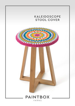 """""""Kaleidoscope Stool Cover"""" - Crochet Pattern For Home in Paintbox Yarns Simply DK"""