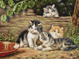 Luca-S The Cats Petit Point Tapestry Kit - Multi
