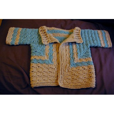 All-in-One Crochet Cardi for Baby UK Version