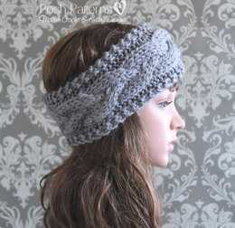 Cable Headband Ear Warmer Knitting Pattern 407