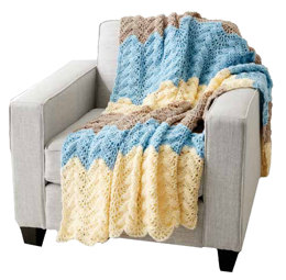 Seaside Ripple Crochet Afghan in Caron One Pound - Downloadable PDF