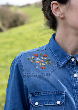 Anchor Floral Embroidery Shirt - ANC0003-108 - Downloadable PDF