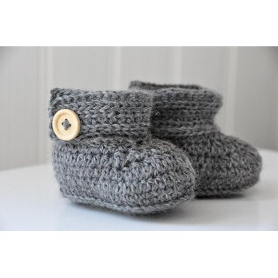 Baby Wrap Around Crochet Button Boots (US terms) Crochet pattern by ...