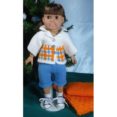 Camping Trip, Knitting Patterns fit American Girl and other 18-Inch Dolls