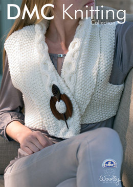 Wrap Over Cropped Gillet in DMC Woolly - 15131L/2
