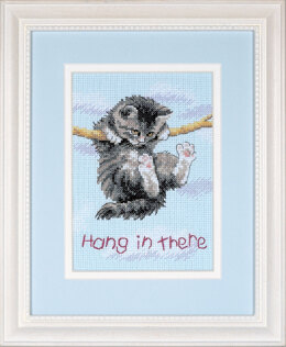 Dimensions Hang on Kitty Cross Stitch Kit - 13cm x 18cm